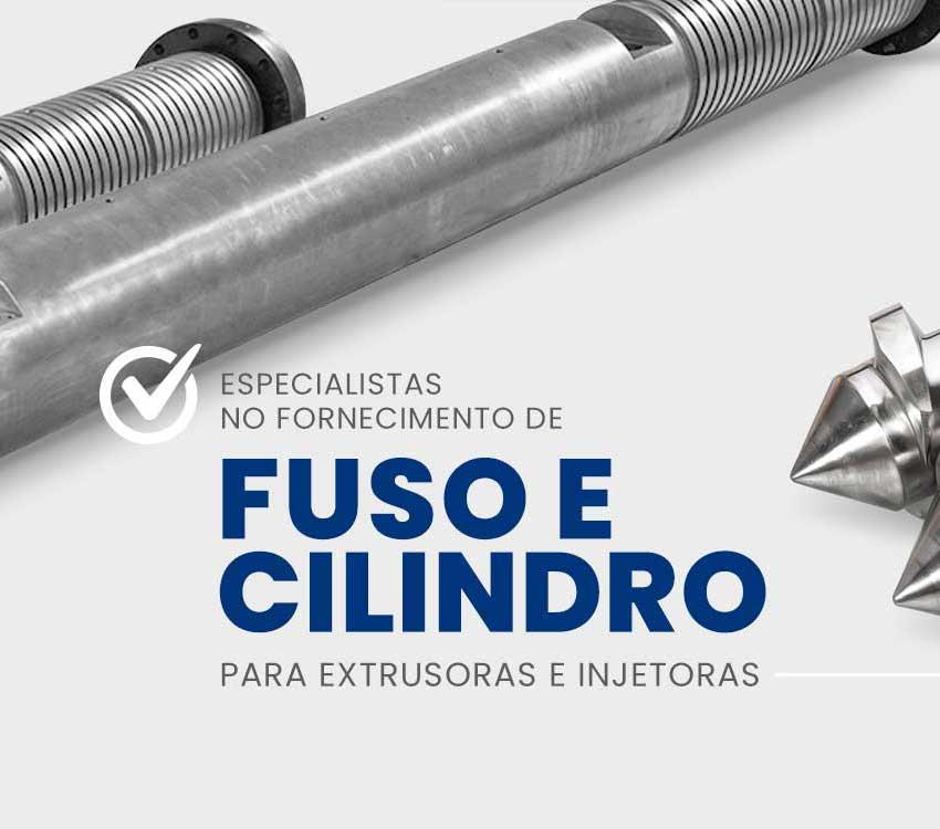 Fuso e cilindro para extrusoras e injetoras